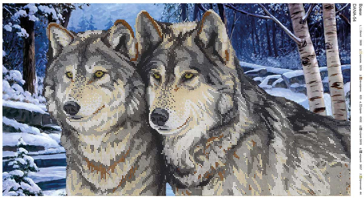 Волки вышивка бисером схемы 15