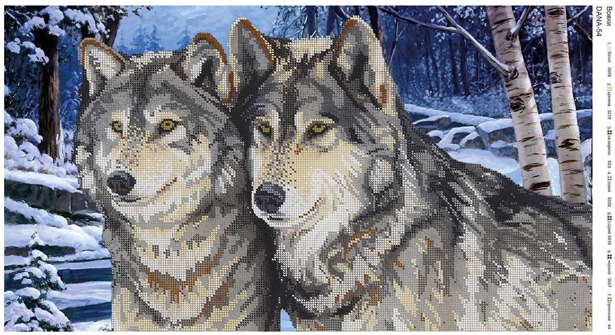 Волки вышивки бисером 7