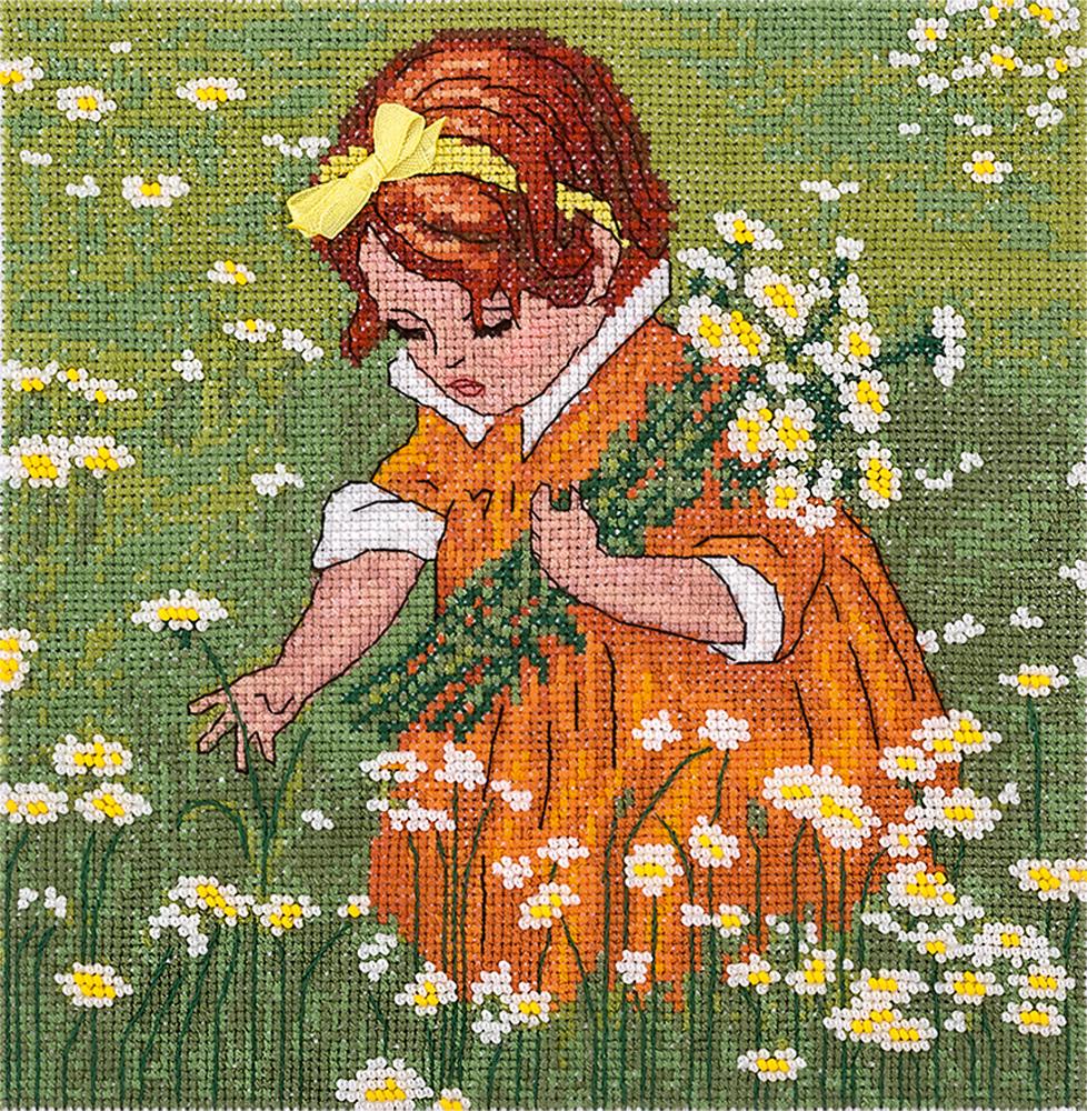 Вышивка крестом-девочки 6