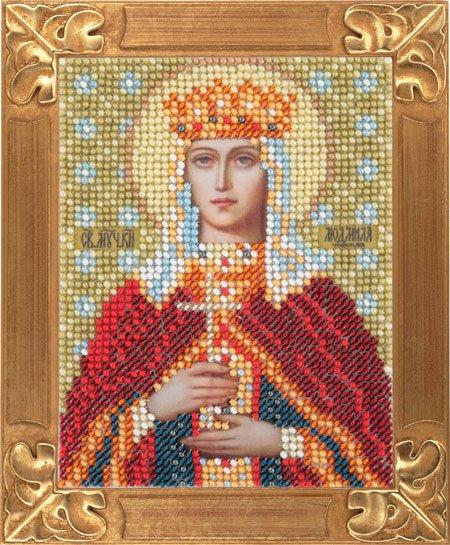 Людмила икона вышивка бисером